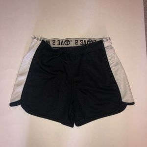4/$25 So Black and White Running Athletic Shorts